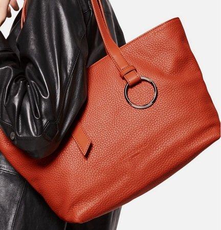 Hot! Liebeskind Berlin Shopper 'Millennium' Orangerot für 64,06€ (statt 139€)