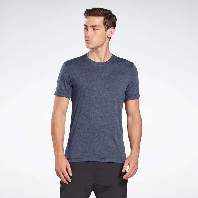 """Reebok """"GB Short-Sleeve Tri-Blend Vector"""" T-Shirt in Weiß und Blau für 7,75€ zzgl. Versand (statt 10€)"""
