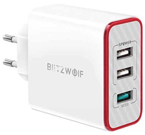 3-Port BlitzWolf 30W USB-Ladegerät mit QC3.0 für 11,19€ inkl. Versand (Prime)