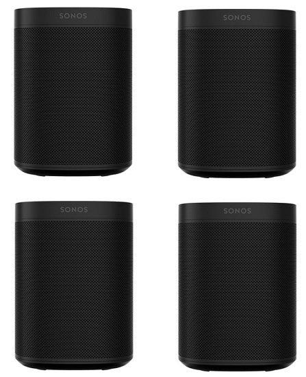 4er Set Sonos One SL WLAN-Lautsprecher für 594,95€ (statt 704€) - 150€ / Stück