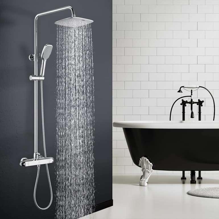 Homelody Duschsystem mit Regendusche, Handbrause & Thermostat für 99,19€ inkl. Versand (statt 145€)