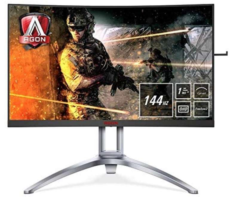 AOC AG273QCX - 27 Zoll QHD Monitor (1 ms Reaktionszeit, FreeSync 2, 144 Hz) für 379,20€ (statt 405€)