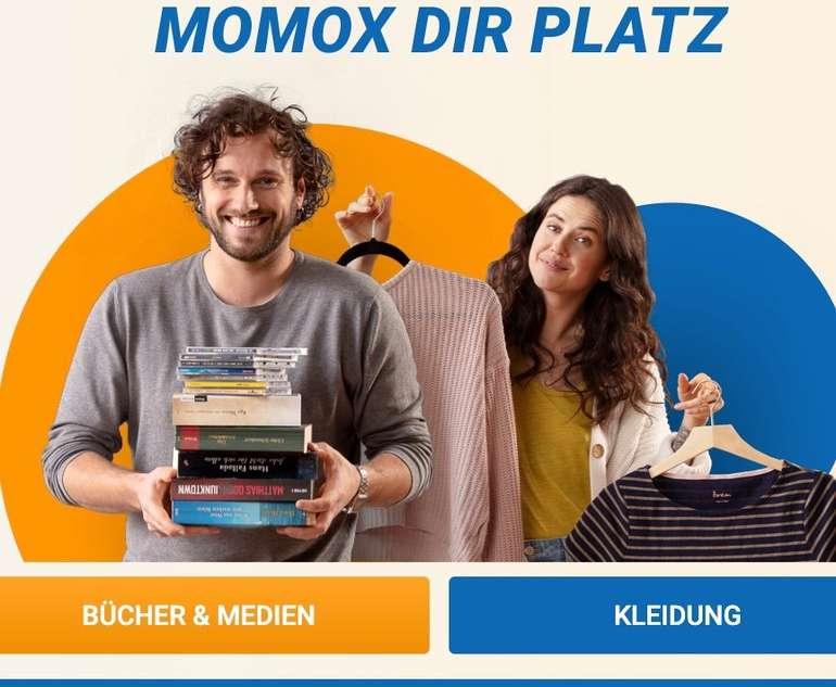 Momox: 11% Bonus ab 11€ Verkaufswert - Bücher und Medien einfach online verkaufen