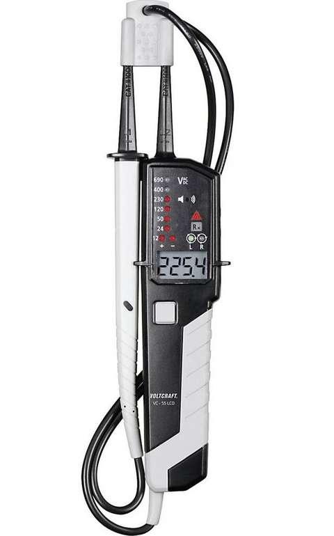 Voltcraft VC55 LCD SE zweipoliger Spannungsprüfer für 27,98€ inkl. Versand (statt 42€)