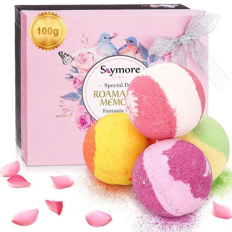 Skymore - Badebomben im Geschenk Set (4 x 100 Gramm) für 7,99€ inkl. Prime Versand