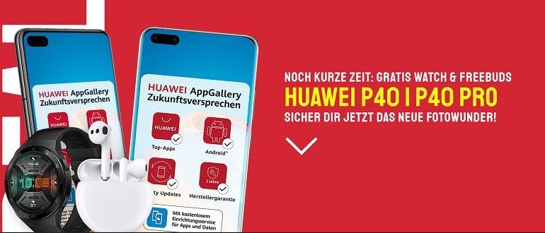 Sparhandy Huawei P40 Pro o2 Free L Allnet-Flat 60GB LTE 3