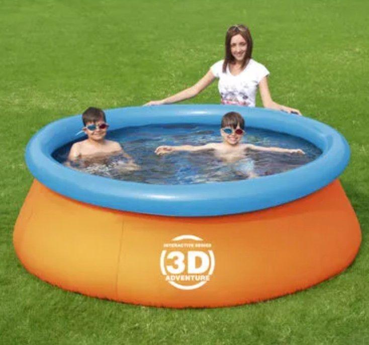 Aufblasbarer Bestway 3D Kinderpool (213 x 213 x 66 cm) für 48,90€ inkl. Versand (statt 83€)