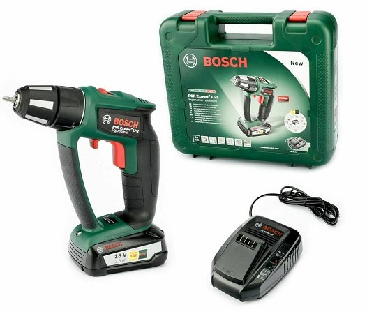 Bosch PSR 18 Expert+ LI-2 Ergonomic Akku Bohrschrauber für 99,95€ (statt 117€)