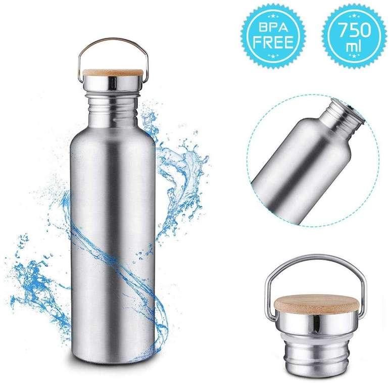 Charminer Edelstahl Trinkflasche (750 ml, BPA-frei, auslaufsicher) für 7,69€ inkl. Prime Versand (statt 11€)