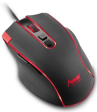 Mad Giga - 12000 DPI Optische Gaming Maus mit LED Beleuchtung für 17,39€
