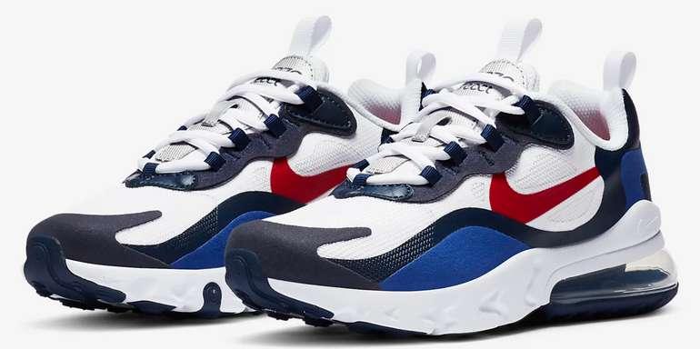 Nike Air Max 270 React Sneaker in Weiß/Blau für ältere Kinder zu 57,77€ inkl. Versand (statt 80€) - Nike Membership!