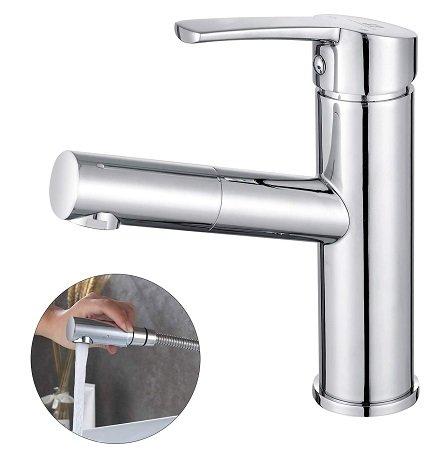 Homelody Wasserhahn Waschtischarmatur mit ausziehbarer Brause für 35,99€