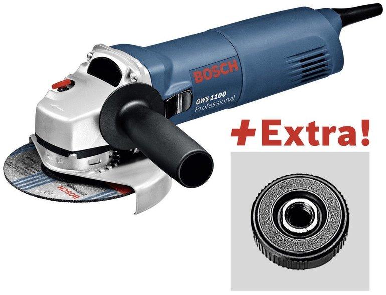 Bosch Professional GWS 1100 Winkelschleifer + SDS Click Ø 125mm für 69,99€