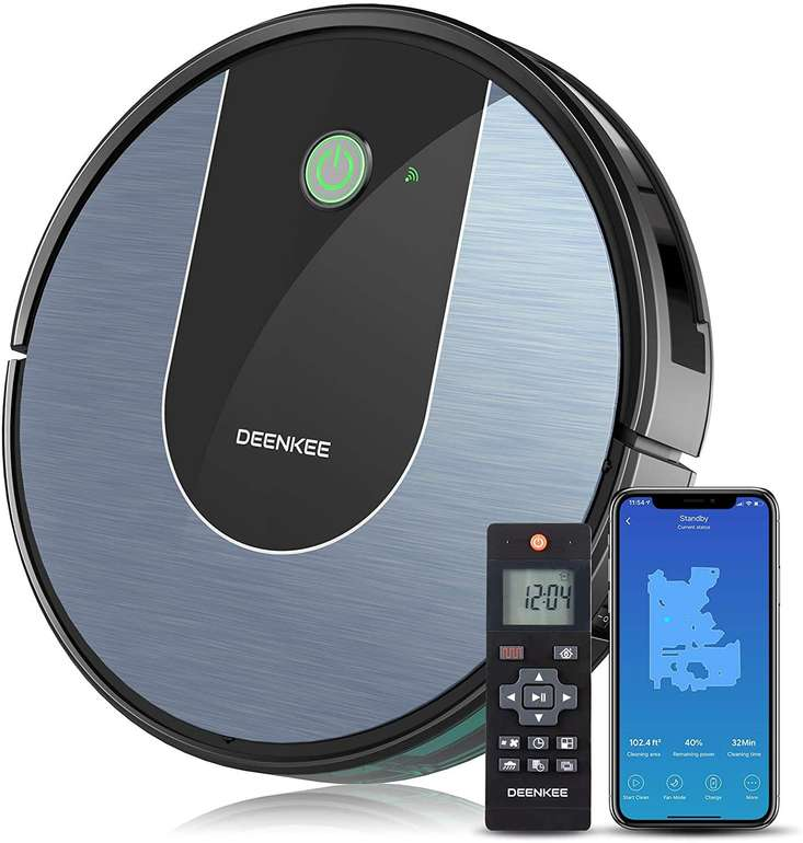 Deenkee DK700 Saugroboter (App/Alexa, 1400Pa) für 149,98€ inkl. Versand (statt 170€)