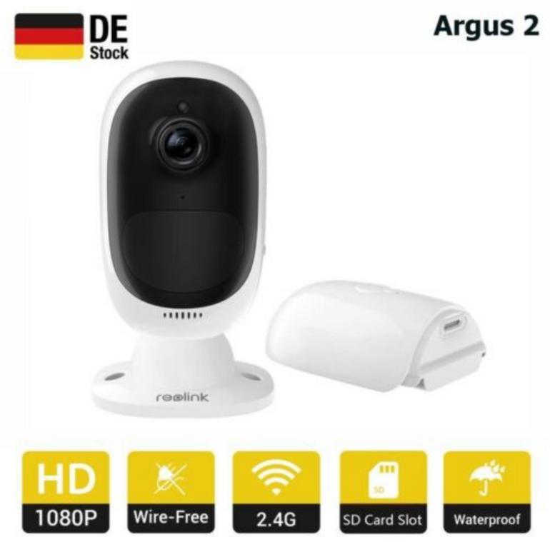 Reolink Argus 2 Wireless HD Überwachungskamera für 99,99€ (statt 116€)