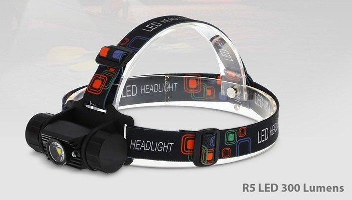 Boruit RJ - 02 R5 300LM Stirnlampe für 7,81€ inkl. VSK