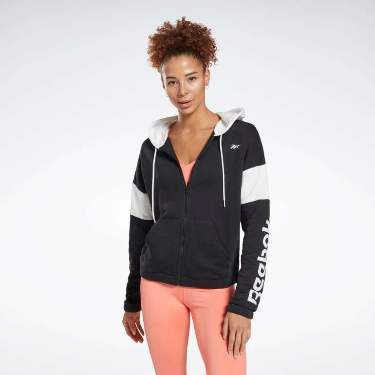 "Reebok Longsweatshirt ""Linear Logo French Terry"" Zip-Up Hoodie für 25,02€ inkl. Versand (statt 55€)"