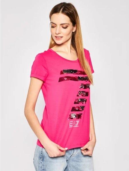 EA7 Emporio Armani T-Shirt mit Logo aus Wendepailletten für 41,99€ inkl. Versand (statt 76€)