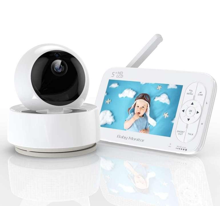 """Yundoo Babyphone mit 5"""" Monitor (1280 x 720P, Nachtsicht, Temperatursensor) für 83,99€ (statt 115€)"""