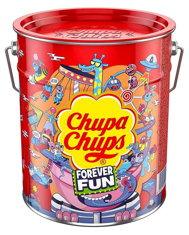 Chupa Chups Best of Lollipop-Eimer (150 Lutscher in Metalldose) für 14,99€ inkl. Prime Versand (statt 22€)