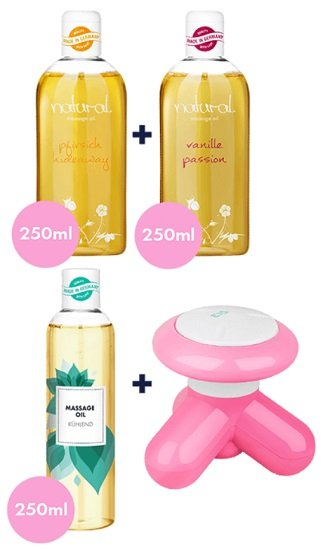 Eis.de: Massagegerät & 3 x 250ml Massageöl-Set gratis (MBW: 19,95€) + 6 Gratisartikel