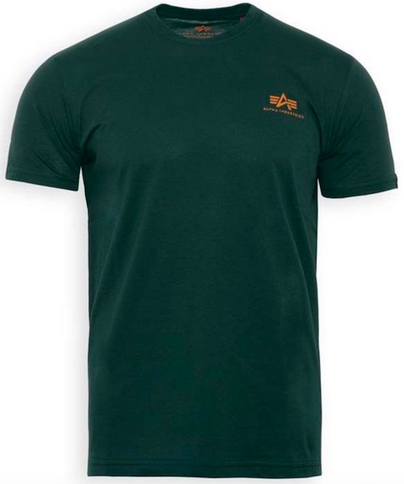 Alpha Industries Shirt 'Small Logo' in petrol für 15,22€ (statt 20€)