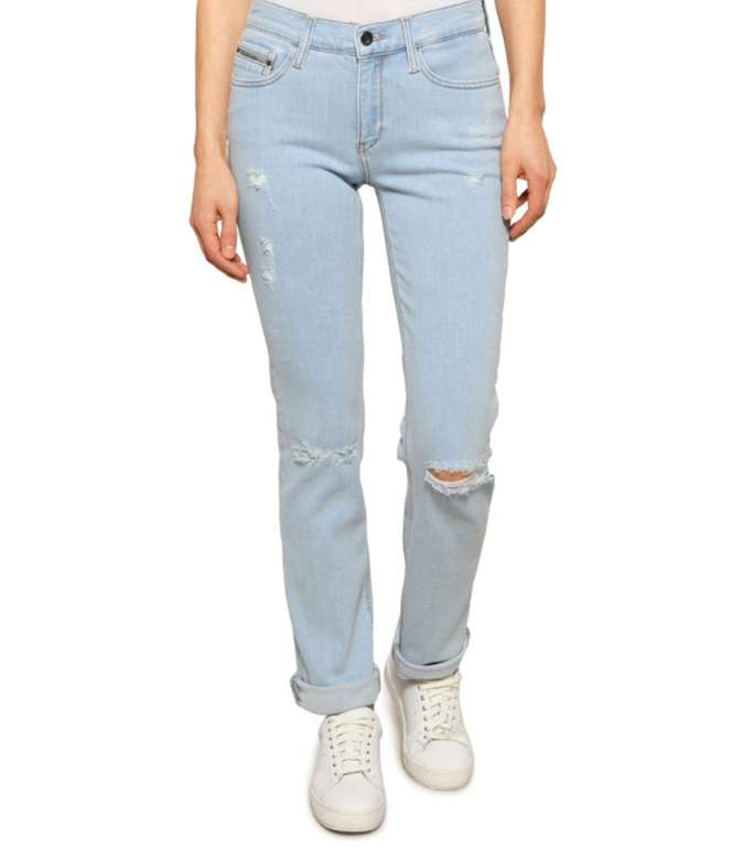 Lagerräumung bei Dress-for-Less mit 50-80% Rabatt - z.B. Calvin Klein Jeans Straight mid Rise für 27,93€