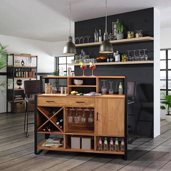 Premium Living Bar aus Akazienholz (140 x 120 x 50 cm) für 588,30€ inkl. Versand (statt 798€)