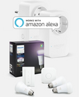 Philips Hue White & Color Ambiance Starter Kit + 2x Amazon Smart Plug zu 149,85€