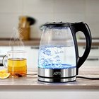 AFK GWK2200.1C – 1,7l LED Glas-Wasserkocher für 14,99€ inkl. Versand
