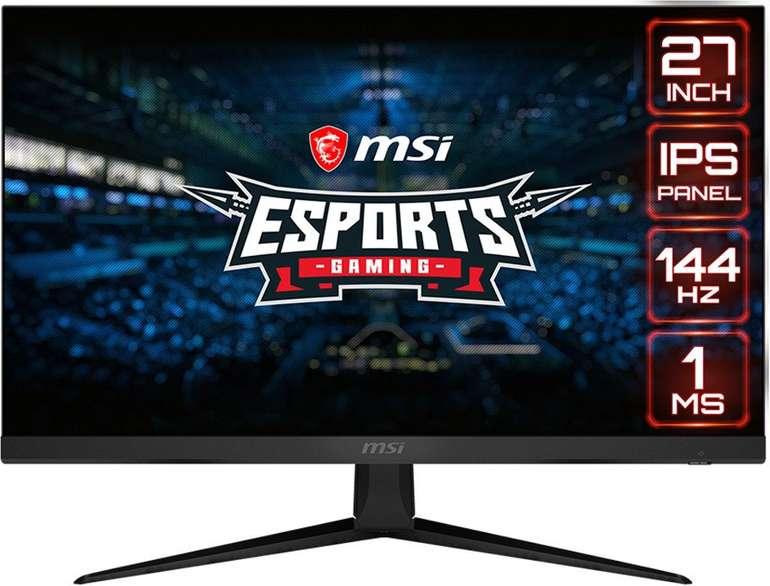 "MSI Optix G271 - 27"" Monitor (1 ms, AMD FreeSync, 1080p, 144 hz) für 229,98€ inkl. Versand (statt 265€)"