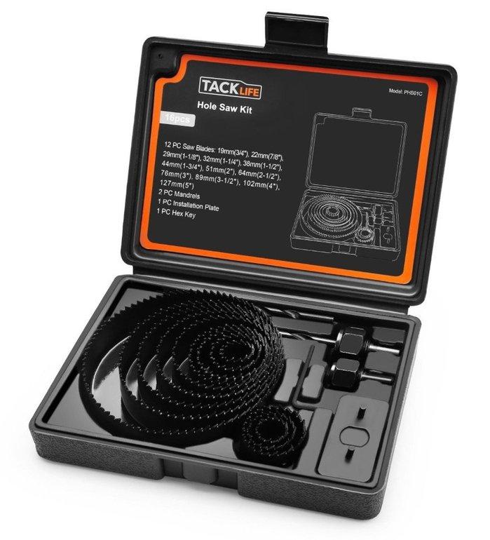 Tacklife PHS01C 16-tlg. Lochsägesatz (19-127mm) für 9,99€ inkl. Versand (Prime)