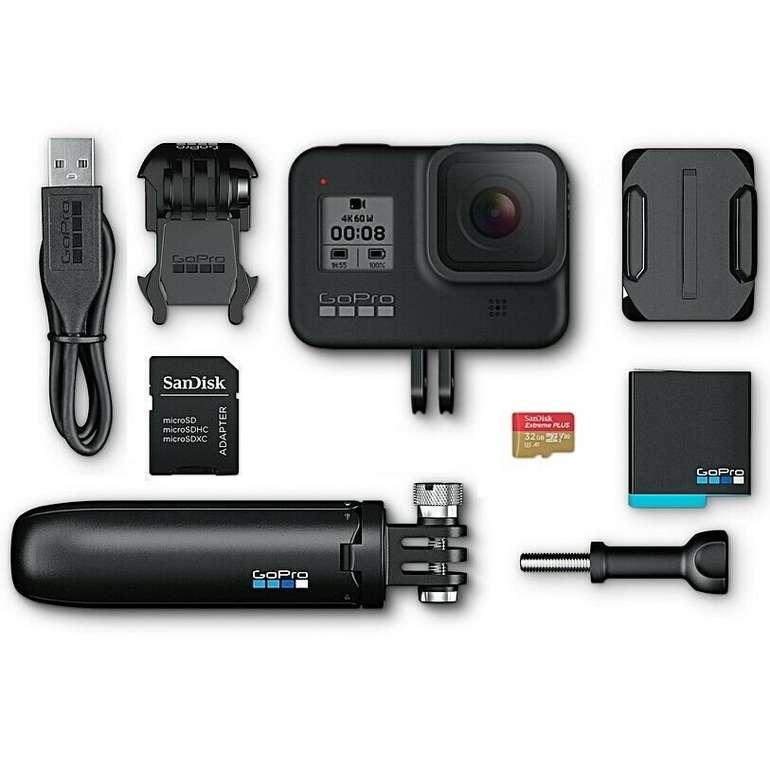 GoPro HERO8 Black Bundle 4K Action-Kamera + Shorty, SD-Karte und Zubehörpaket für 299,99€ inkl. Versand
