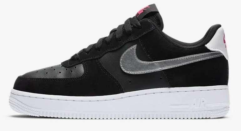 """Nike Air Force 1 '07 Damen Sneaker im """"Black/Silver""""-Colourway für 74,99€ inkl. Versand (statt 100€)"""