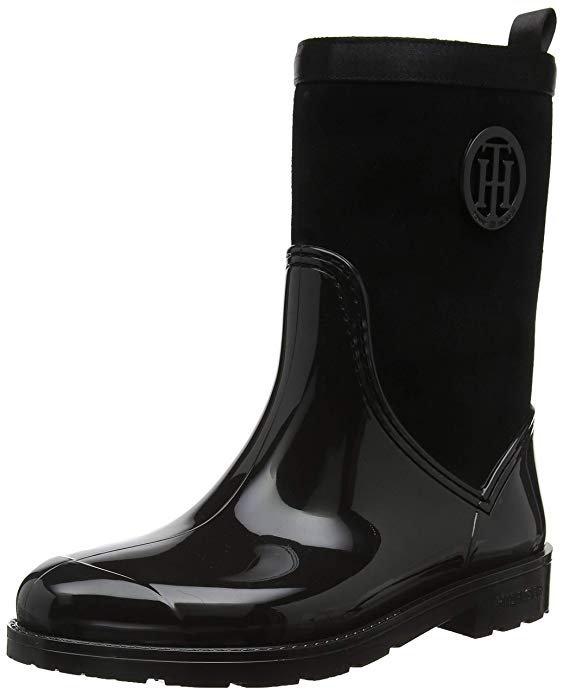 Tommy Hilfiger Damen Warmlined Suede Rain Boot Gummistiefel für 35,99€ (statt 80€)