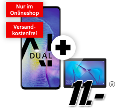 Media Markt Singles Day Tarife: z.B Huawei Mate 20 + Tablet + 8GB für 31,99€ mtl