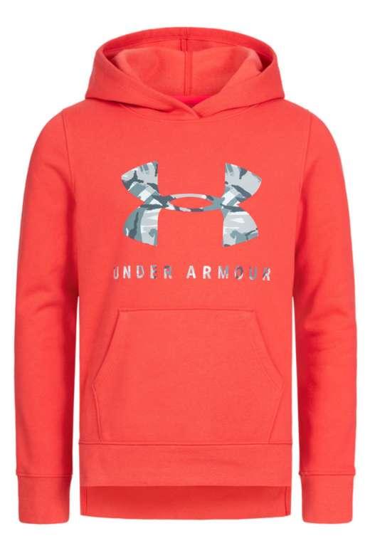 Under Armour Rival Logo Print Mädchen Hoodie (1343622-84) in rot für 23,94€ inkl. Versand (statt 28€)