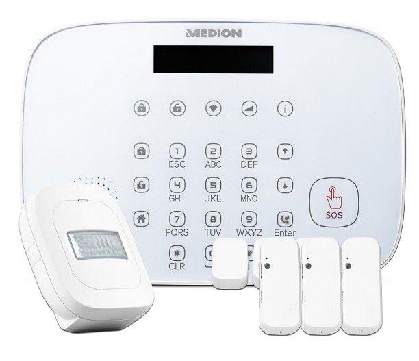"""Medion """"P85773"""" Smart Home Security-Set (Zentrale, 3x Tür-/Fensterkontakt, Bewegungsmelder) für 68,97€ (statt 91€)"""