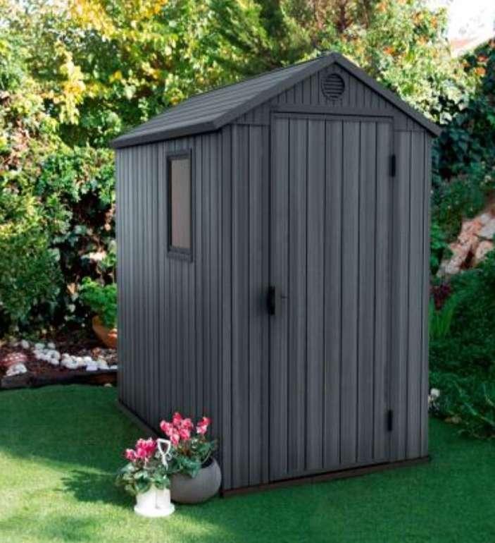 Keter Darwin Gerätehaus (6x4, grau/anthrazit, 125,8 x 184,5 x 205,1 cm) für 394,94€ inkl. Versand (statt 449€)