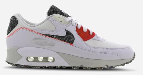 Nike Air Max 90 Essential Recycled Felt Herren Sneaker in weiß/rot für 99,99€ inkl. Versand (statt 140€)