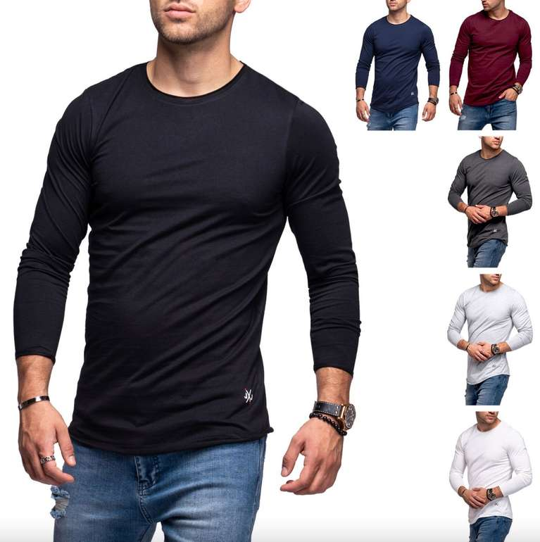 Jack & Jones Infinity Herren Langarmshirt (versch. Farben) für je 13,99€ inkl. Versand (statt 18€) - Restgrößen!