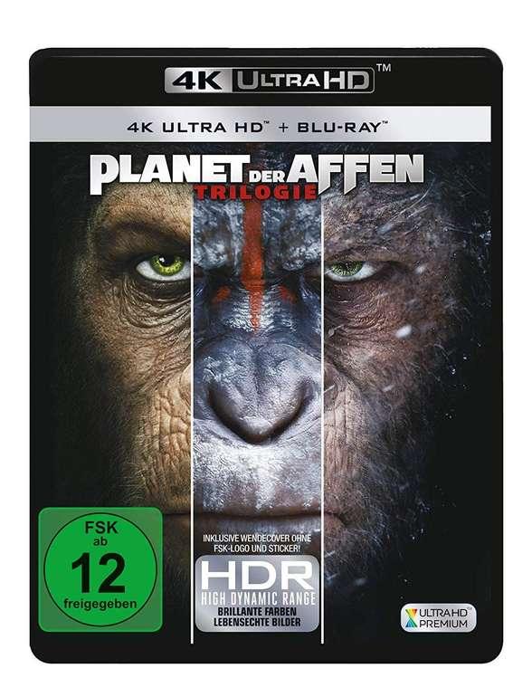 Planet der Affen: Trilogie (4K Ultra HD) auf Blu-ray für 19,48€ inkl. VSK (statt 45€)