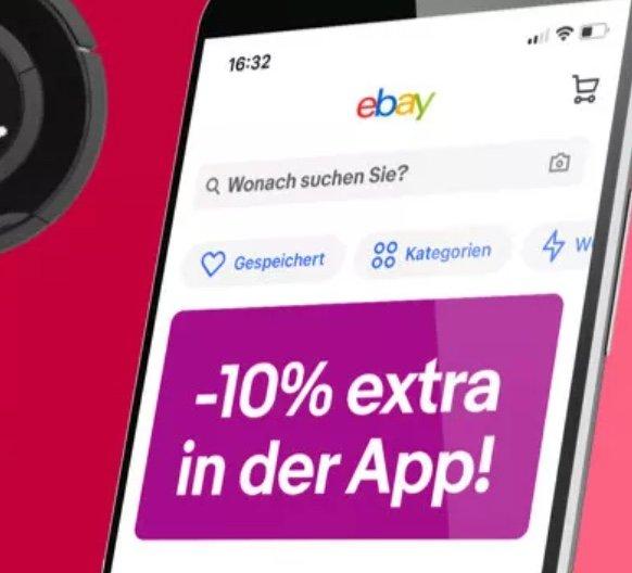 Bis 20 Uhr: eBay hAPPy Hour mit 10% Rabatt in der eBay App (maximal 30€ Rabatt)