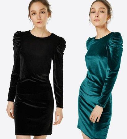 New Look Damen Minikleid 'VELVET RUSH' ab 8,01€ inkl. VSK (statt 20€)