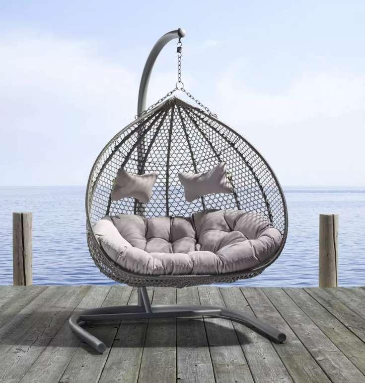 """Bessagi Garden Hängesessel """"Bari"""" mit Auflage & Kissen für 339€ inkl. Versand (statt 399€)"""