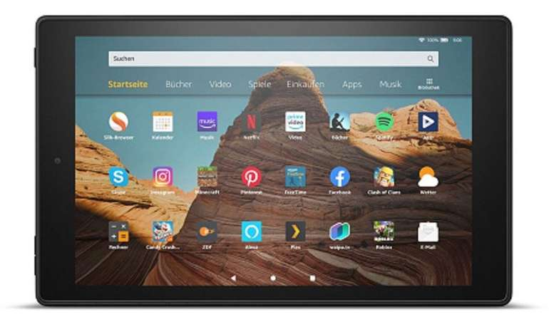 Das neue Amazon Fire HD 10 - 25,7cm Tablet PC (Octa Core, 32GB) + 32GB Karte ab 120,93€ (statt 150€)