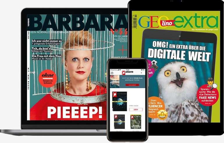 Gruner + Jahr alle Zeitschriften als ePaper geschenkt z.B. GEO, Capital, Eltern, Brigitte uvm.