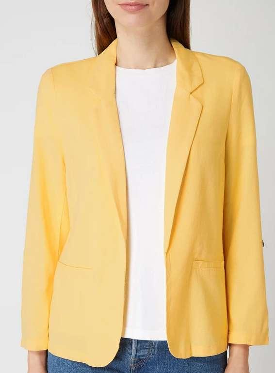 Vero Moda Blazer mit offener Vorderseite in Gelb für 14,99€ inkl. Versand (statt 28€) - S und L!