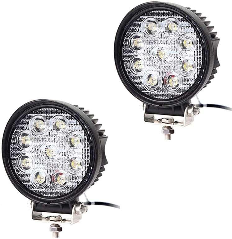 Hengda LED Arbeitsscheinwerfer (12V, 27W, IP67) z.B. 2 Stück für 9,79€ inkl. Versand (statt 14€)
