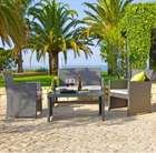 Lounge-Garnitur Michelle mit Tisch, Zweisitzer und zwei Stühlen für 169,25€ inkl. Versand
